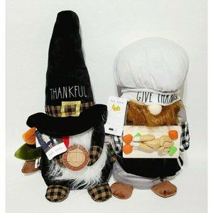 Rae Dunn Thankful And Give Thanks Weighted Gnomes